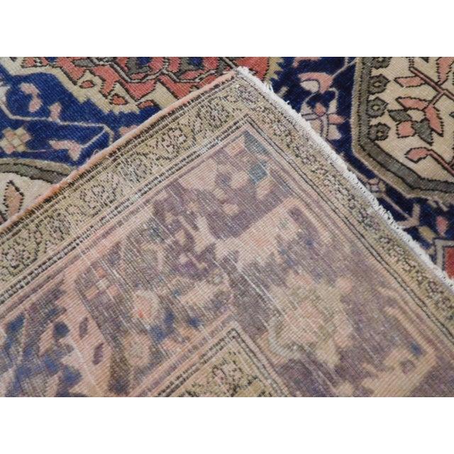 "Antique Persian Sarouk Farahan Rug - 5'6"" x 7' For Sale - Image 10 of 10"