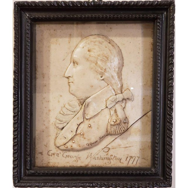American Wax Relief Portrait of George Washington For Sale - Image 4 of 4