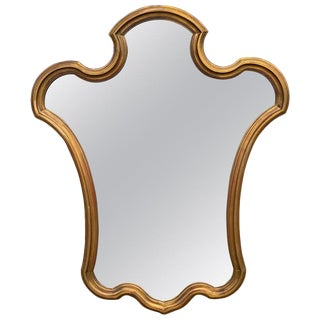 Midcentury Giltwood Keyhole Mirror by La Barge For Sale