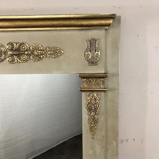 Mid 19th Century 19th Century French Empire Painted Mirror For Sale - Image 5 of 13