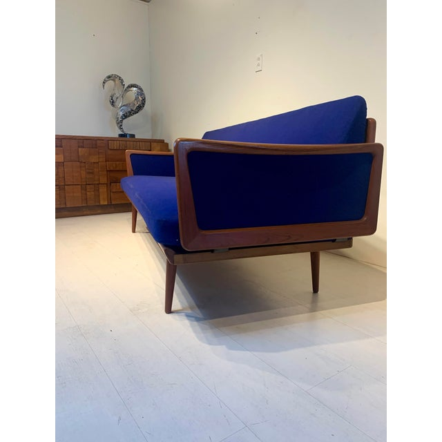 1950s Mid Century Modern Peter Hvidt and Orla Mølgaard for John Stuart Teak & Cane Back Sofa For Sale - Image 5 of 13