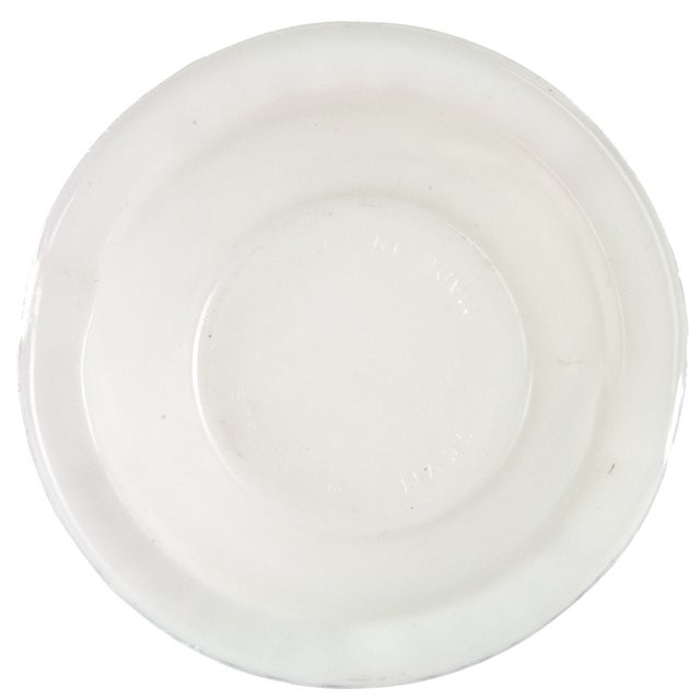 French Vintage French Bourgogne Milk Glass Ashtray For Sale - Image 3 of 3