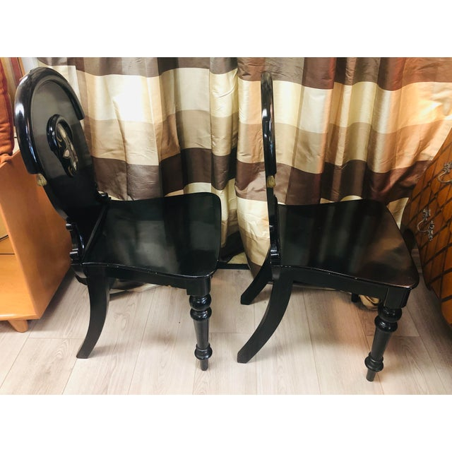 Black James Shoolbred Furniture London Chairs - a Pair For Sale - Image 8 of 11