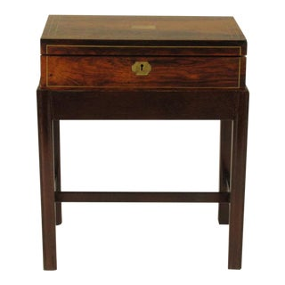 19-C. English Rosewood Box on Stand For Sale
