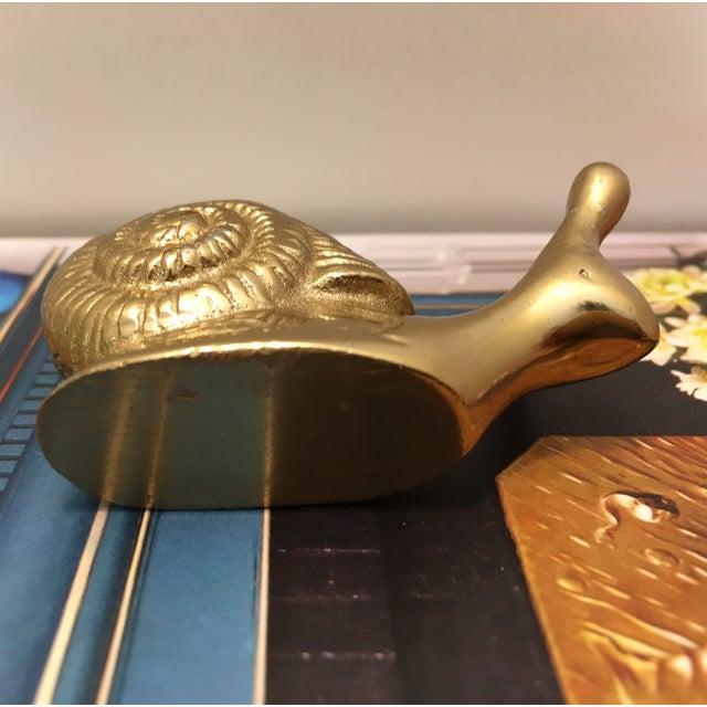Vintage Brass Snail - Image 6 of 6