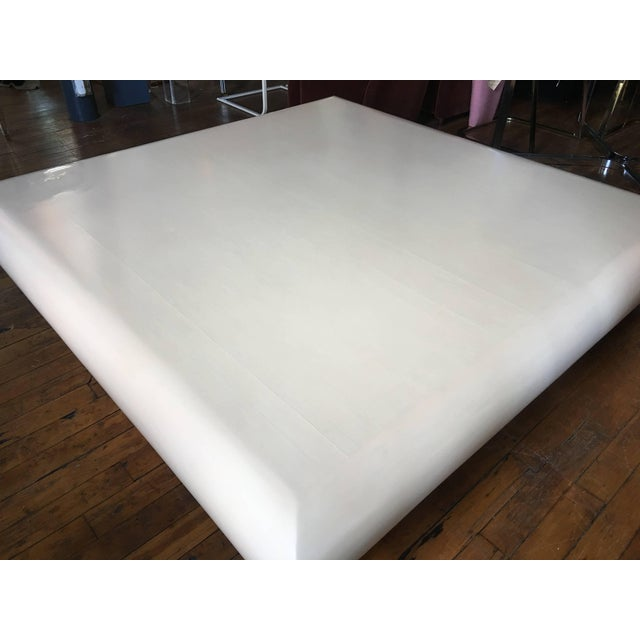1980s Monumental Karl Springer Style Bullnose Coffee Table, Tessellated Stone For Sale - Image 5 of 12