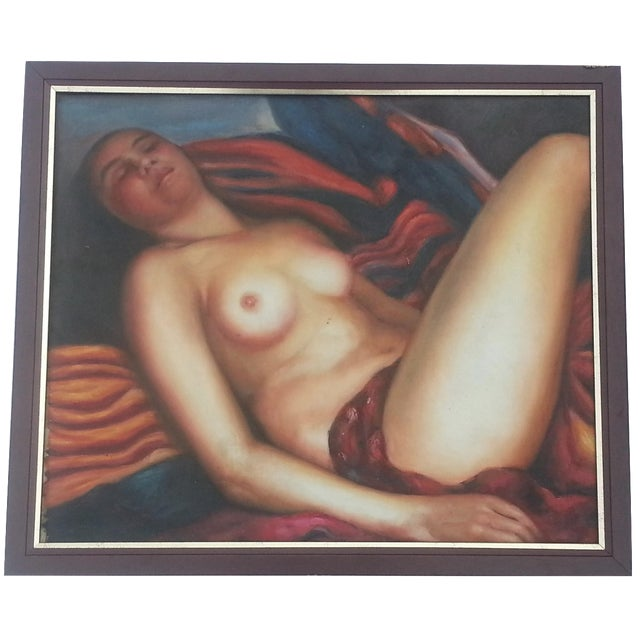 French Nude Oil Painting - Image 1 of 5