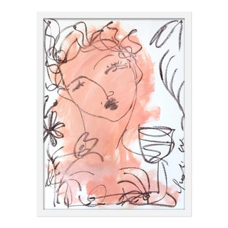 """Small """"Flowers and Wine in Salmon"""" Print by Leslie Weaver, 11"""" X 14"""" For Sale"""