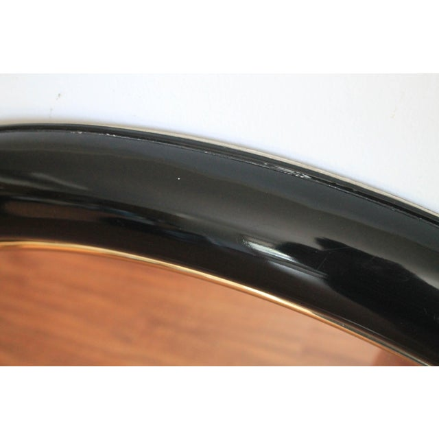 1990s Art Deco Style Round Wall Mirror For Sale - Image 5 of 7