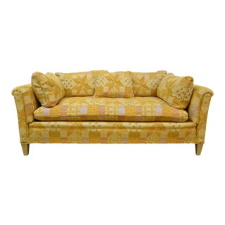 1970s Vintage Henredon Orange Loveseat