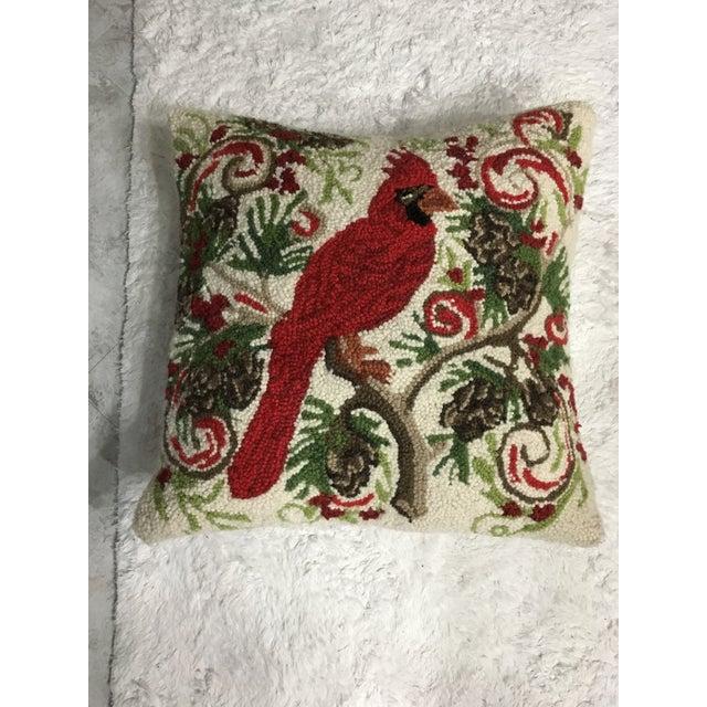 Red Cardinal Hook Pillow - Image 2 of 5