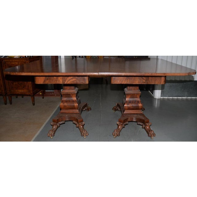 19th C. William IV Style Mahogany Extending Dining Table W/ Lions Paw Feet For Sale - Image 4 of 7