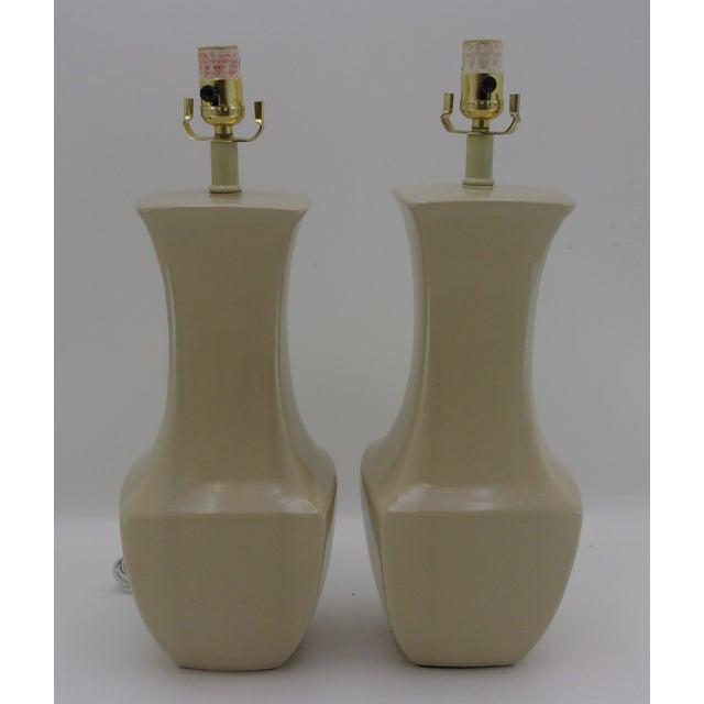 Vintage Porcelain Table Lamps - A Pair - Image 3 of 6