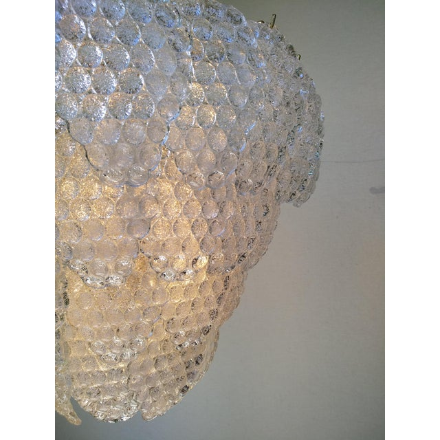 Transparent Vintage Murano Glass Ball Room Chandelier For Sale - Image 8 of 12