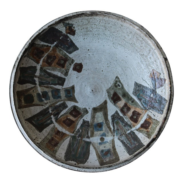 Graphic Studio Pottery Ceramic Charger - Image 1 of 4