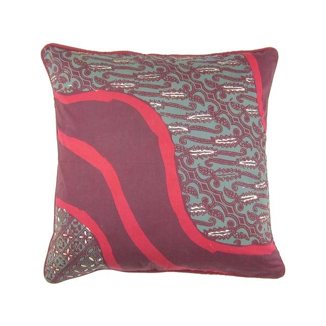 Raspberry Pink Cap Batik Ungu Pillow - Image 1 of 4