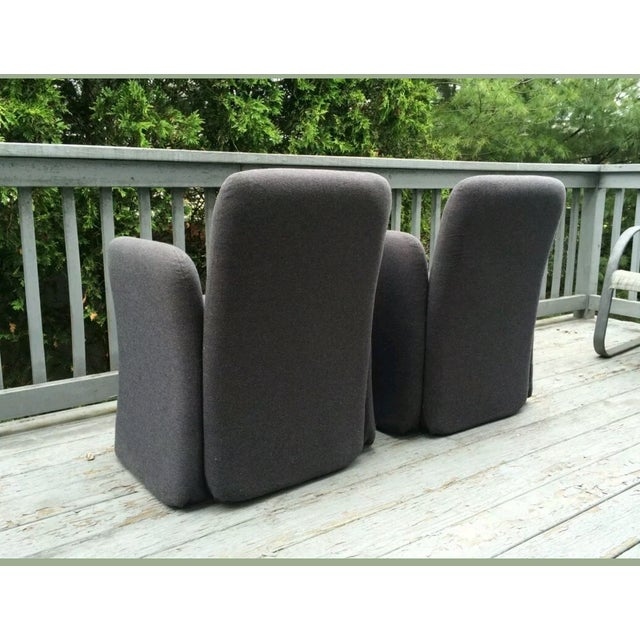 Mid-Century Bellini Style Chicklet Chairs - Pair - Image 5 of 7