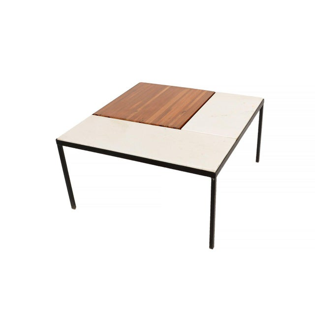 1960s Marble Top Coffee Table Indoor Outdoor Table With Planter Box For Sale - Image 5 of 5