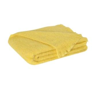Lemon Brushed Mohair Throw