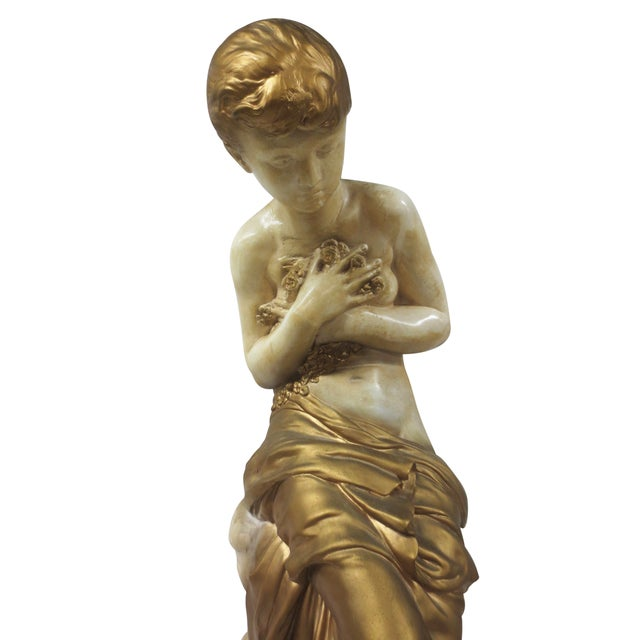 Gilt Classical Statue On Pedestal - Image 4 of 9