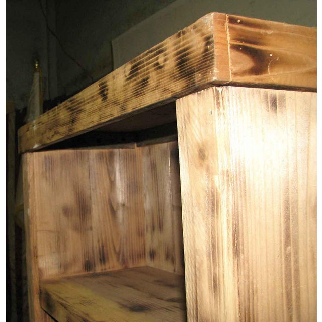 Tall Narrow Pine Rustic Book Case For Sale In Los Angeles - Image 6 of 8