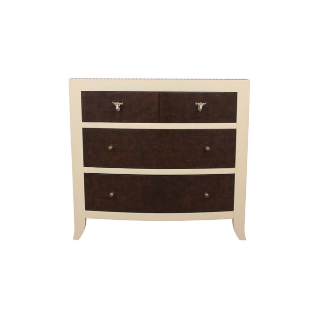 MCM Bernhardt Faux Gator and Cowhide Chest of Drawers For Sale - Image 9 of 9