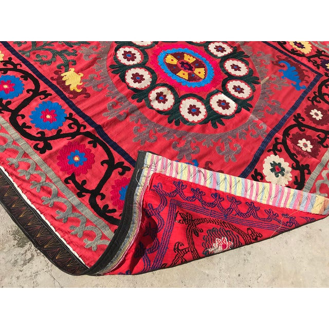 Antique Handmade Suzani Tapestry For Sale - Image 5 of 5