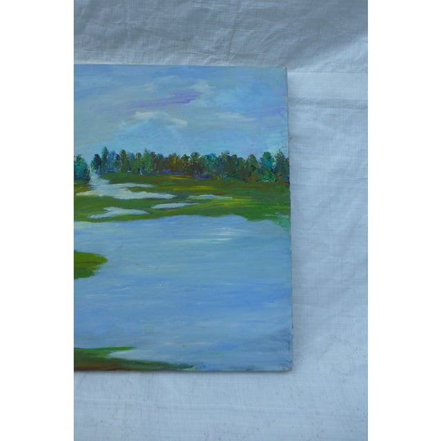 H.L. Musgrave MCM Painting of Flowing River - Image 5 of 6
