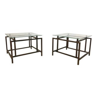 Henning Norgaard Danish Modern Rosewood and Glass Side Tables for Komfort - a Pair For Sale