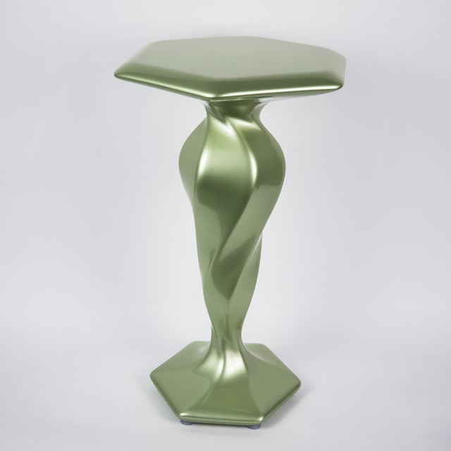 Contemporary Accent Table No. 1 by Chris Delmar in Peridot For Sale - Image 3 of 9