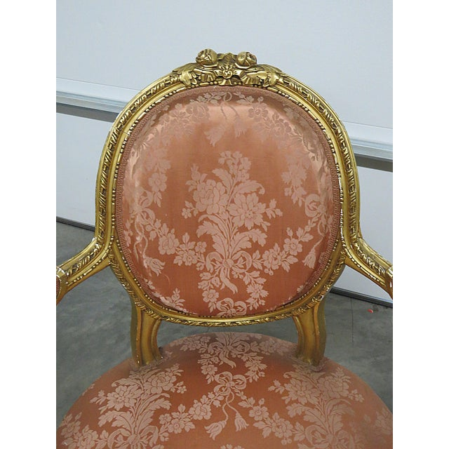 French Regency Style Arm Chairs - a Pair For Sale - Image 4 of 13