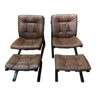 Westnofa Siesta Lounge Chairs With Ottomans - a Pair
