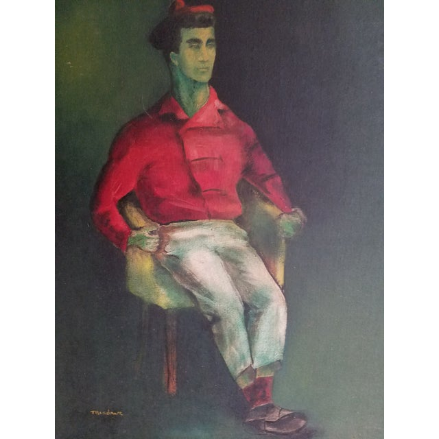 Mid-Century Fauvist Portrait of a Man - Image 3 of 8