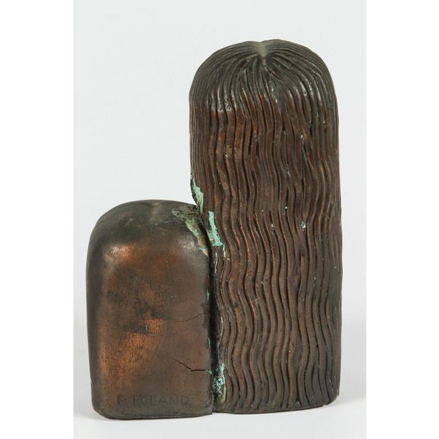 Art Deco Figural Bronze Bookends - A Pair For Sale - Image 4 of 8