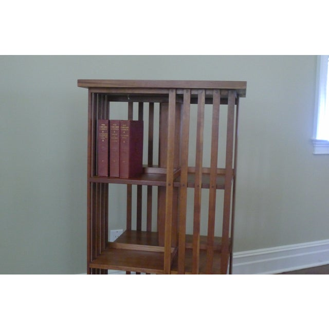 Stickley Mission Cherry Revolving Bookcase - Image 5 of 6