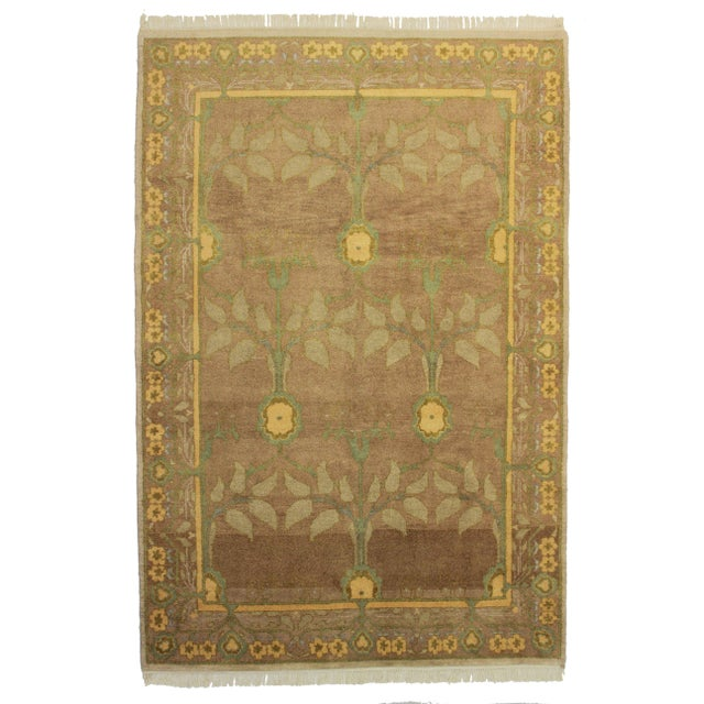 RugsinDallas Hand Knotted Wool Indian Rug