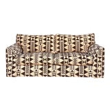 Image of Vintage Custom Cut Velvet Jacquard Sofa For Sale