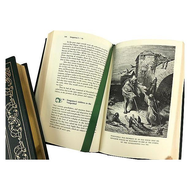 Leather The Histories of Gargantua & Pantagruel Vols. 1 & 2/Franklin Library - a Pair For Sale - Image 7 of 10