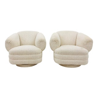 Pair Vintage Modern Club Chairs For Sale