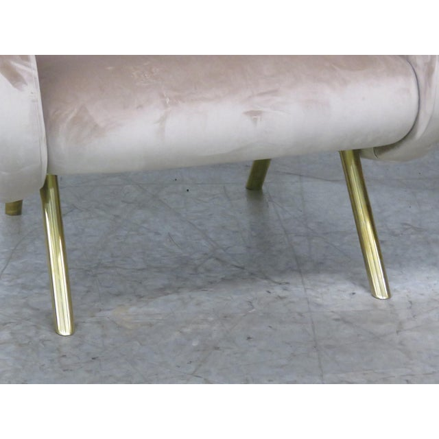 Pair of Italian Modern Lounge Chairs - Image 4 of 9