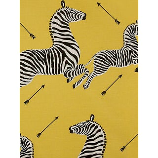 Sample, Scalamandre Zebras - Outdoor, Yellow Fabric For Sale
