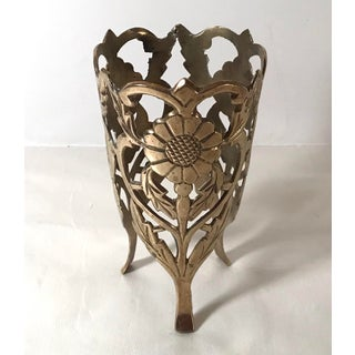 Vintage Brass Floral Candle Holder Preview