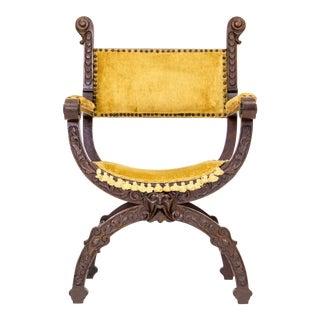 Renaissance Revival Savonarola Chair For Sale