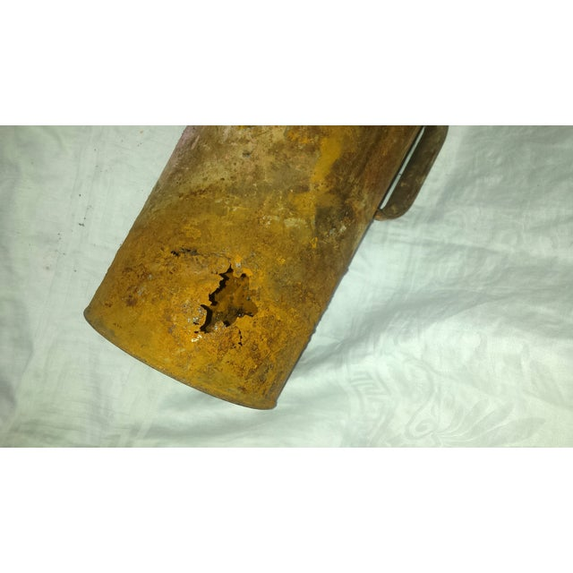 Antique Railroad Oil Can Industrial Rust Decor - Image 7 of 11