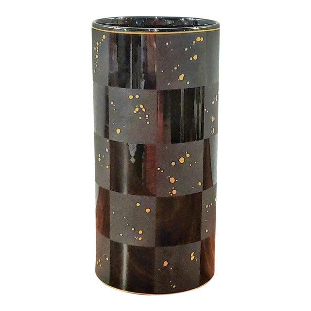 1990s Frogen Yang and Elsa Fischer-Treyden 'Carré D'or' Porcelain Vase for Rosenthal For Sale