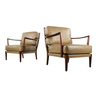 Set of Two Lounge Chairs attributed to Arne Norrell, Sweden For Sale