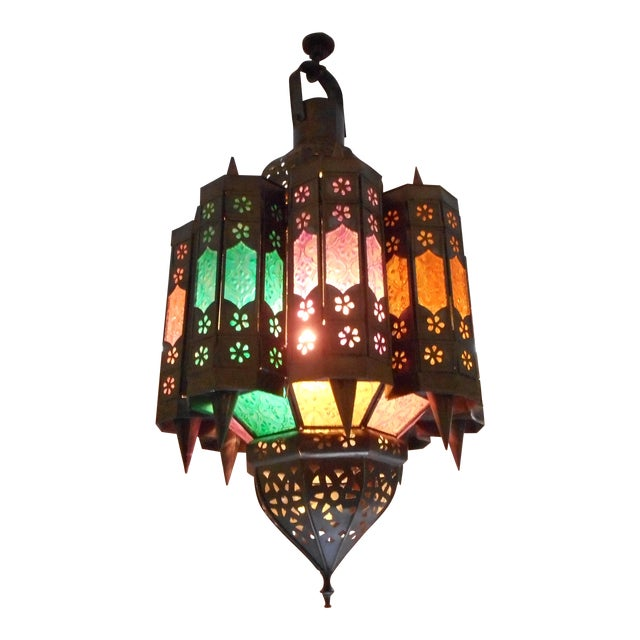 Vintage Moroccan Lighting Fixture - Image 1 of 9