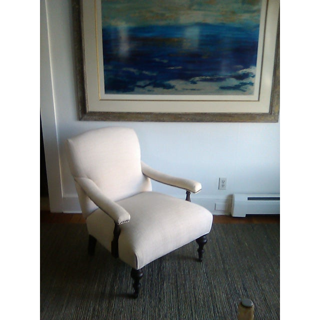 Lillian August Custom Made Lee Industry Fireside Lounge Chair For Sale - Image 10 of 10