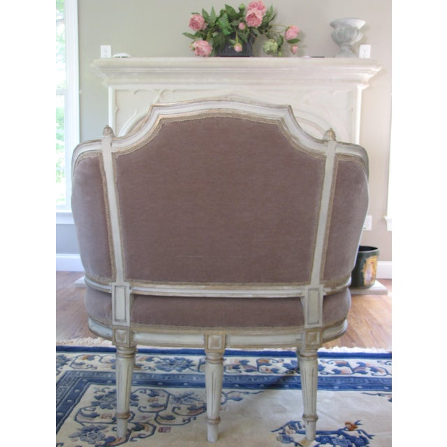 French Taupe Mohair Settee or Armchair - Image 4 of 5