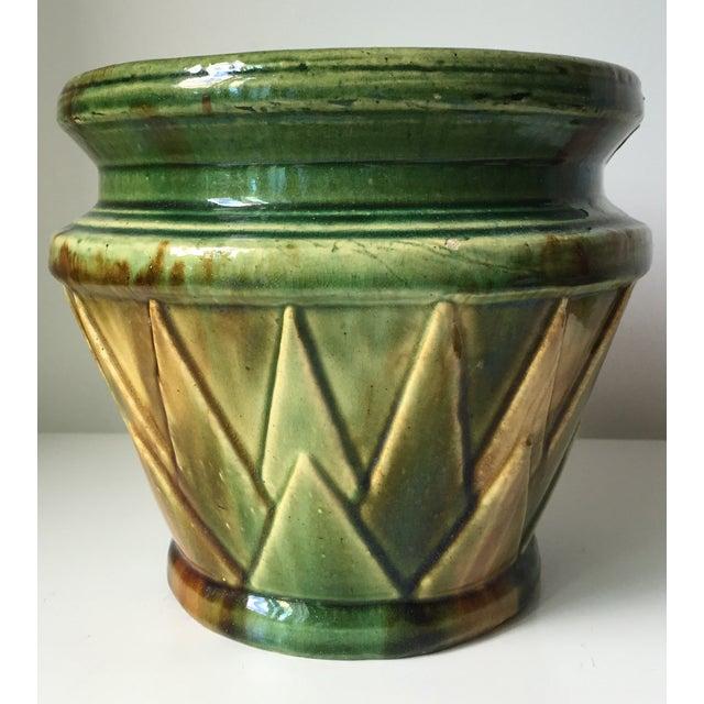 Antique Starburst Art Pottery Planter - Image 6 of 6